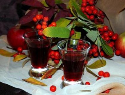 Сок из ягод рябины